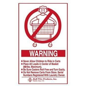 WALL MOUNTED WARNING SIGN-ENGLISH
